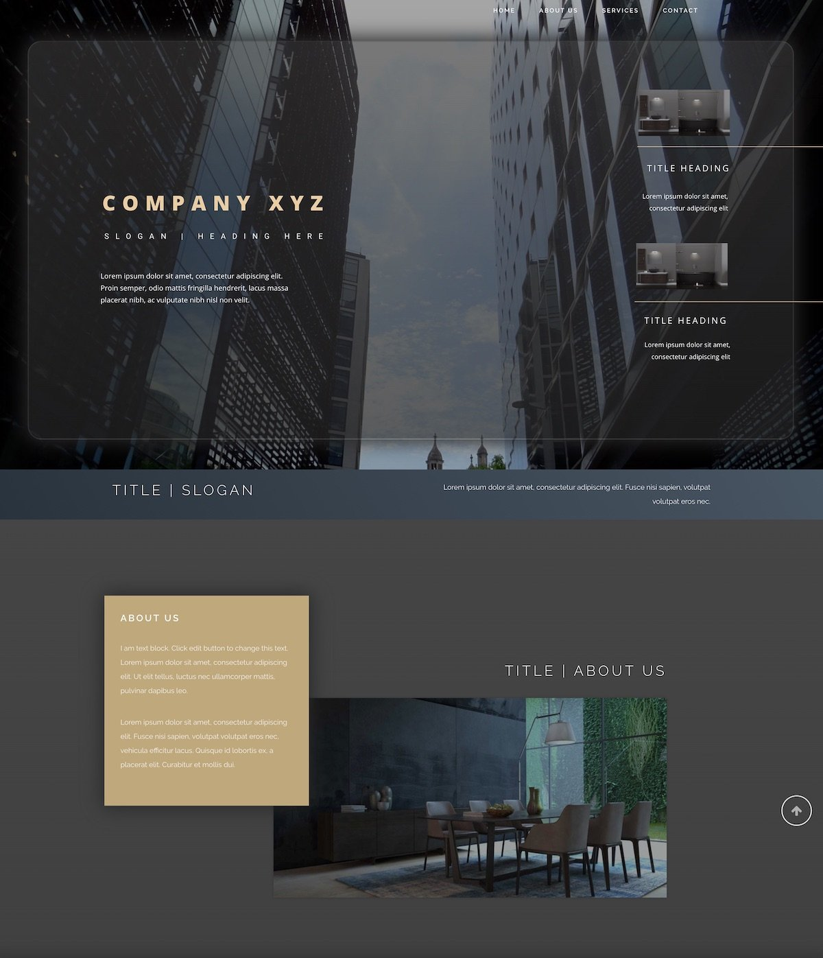 professional and modern wordpress corporate web design template